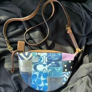 Limited edition Coach patchwork denim purse